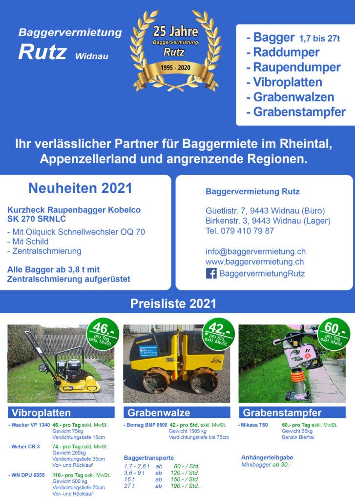 Baggervermietung.ch Preisliste Seite 1