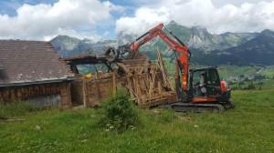 Abbruch Alpstall im Iltios 2
