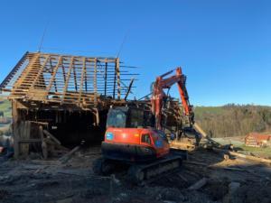 Stallabbruch in Appenzell