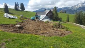 Neubau Alpstall Wildhaus